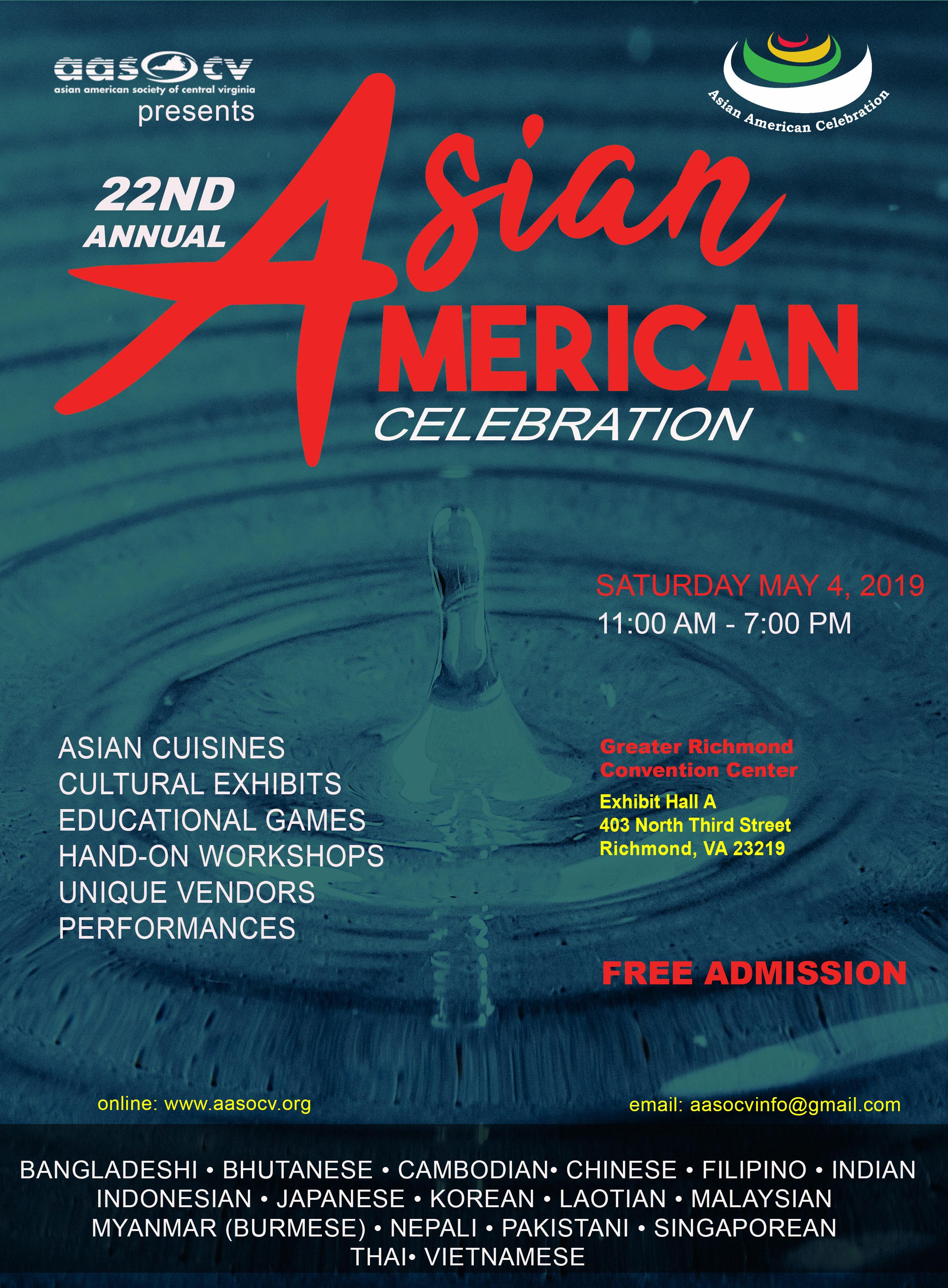 Asian American Society of Central Virginia – A non-profit